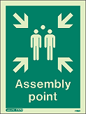 4128D - Jalite Assembly Point Fire Safety Sign