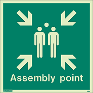 4128Q - Jalite Assembly Point Fire Safety Sign