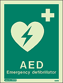 4347D - Jalite Emergency Defibrillator Sign