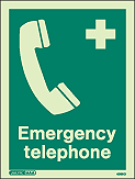 4369D - Jalite Emergency Telephone Sign