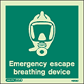 4523C - Jalite Emergency Escape Breathing Device Sign
