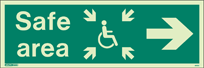 4652U - Jalite Fire Exit Double Sided Sign