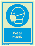 5045D  - Jalite Wear Mask Sign