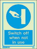 5155D - Jalite Switch off when not in use Sign