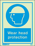 5499D - Jalite Wear Head Protection Sign
