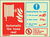 6394D - Jalite Automatic Fire Hose Real Signs