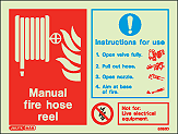 6395D - Jalite Manual Fire Hose Real Signs