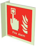 6450FS15 - Jalite Fire Alarm Location Wall Mounted Double Sided Sign