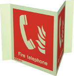 6451P15 - Jalite Fire Telephone Location Panoramic Sign