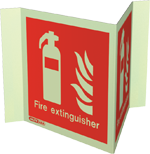6490P15 - Jalite Fire Extinguisher Location Panoramic Sign