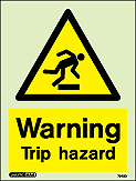 7043D - Jalite Warning Trip Hazard Sign