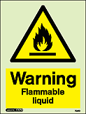 7061D - Jalite Warning Flammable Liquid Sign