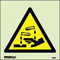 7089C - Jalite Warning Corrosive Substance Sign