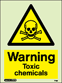 7112D - Jalite Warning Toxic Chemicals Sign