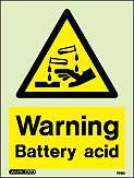 7218D - Jalite Warning Battery Acid Sign