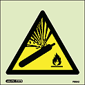 7220C - Jalite Warning Compressed Gas Sign