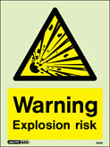 7221D - Jalite Warning Explosive Risk Sign