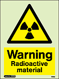 7270D - Jalite Warning Radioactive Material Sign