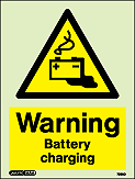7283D - Jalite Warning Battery Charging Sign