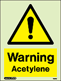 7336D - Jalite Warning Acetylene Sign