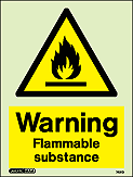 7421D - Jalite Warning Flammable Substance Sign