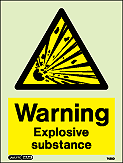 7423D - Jalite Warning Explosive Substance Sign