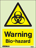 7454D - Jalite Warning Bio-hazard Sign