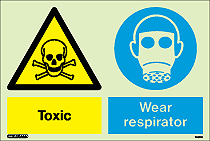 7461DD- Jalite Warning Toxic Wear Respirator Sign