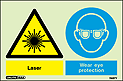 7487Y - Jalite Warning Laser Wear Eye Protection Sign