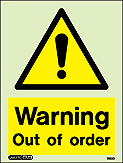 7522D - Jalite Warning Out of Order Sign