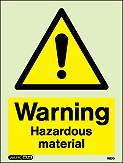 7527D - Jalite Warning Hazardous Material Sign