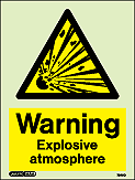 7549D - Jalite Warning Explosive Atmosphere Sign
