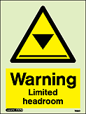 7583D - Jalite Warning Limited Headroom Sign