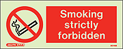 8014M - Jalite Smoking Strictly Forbidden Sign