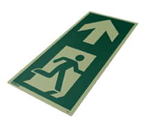 Jalite Aaa Photoluminescent Floor Mounted Escape Route Signs